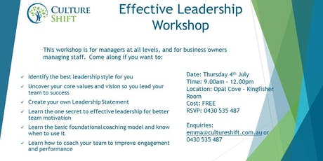 Effective Leadership for Managers tickets