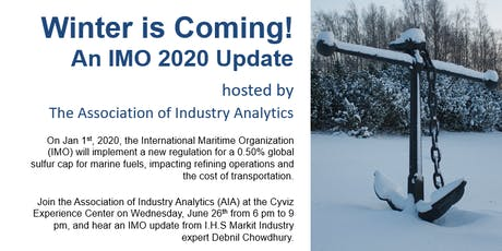 Winter is Coming! An IMO Update tickets