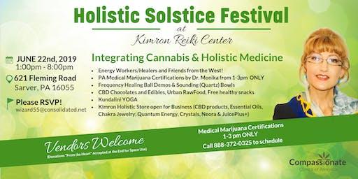Holistic Solstice Festival and PA Medical Marijuana Certifications