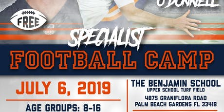 Pat O'Donnell Specialist Football Camp tickets