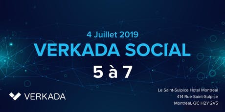 Verkada IT Social 2019 - Un 5 à 7 Sponsorisé par Verkada (Hotel Saint-Sulpice Montreal) billets