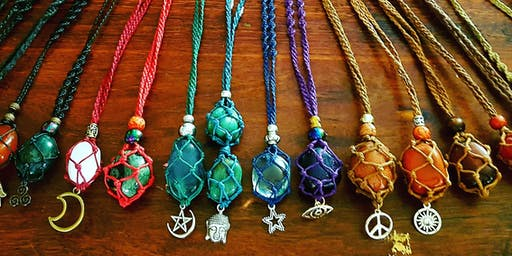 Beginners Crystal Macrame Necklace Workshop