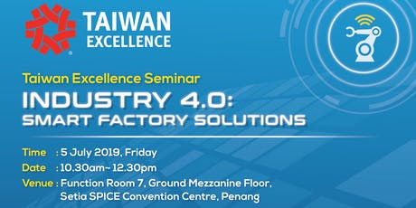 Taiwan Industry 4.0: Smart Factory Solutions Seminar tickets
