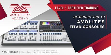 Avolites Academy Titan Level 1 (2 Days) tickets