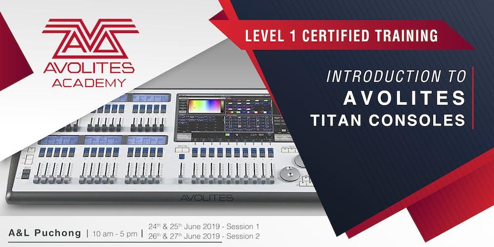 Avolites Academy Titan Level 1 (2 Days) Registration