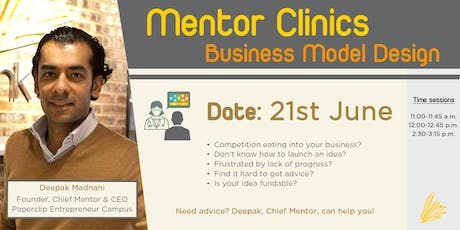 Mentor Clinics: Business Model Design tickets