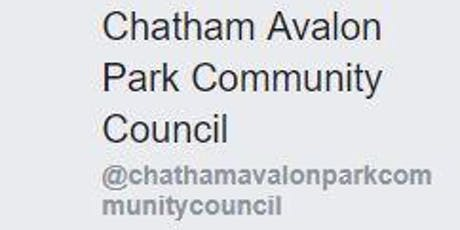 CHATHAM AVALON PARK COMMUNITY COUNCIL -- MONTHLY MEETING ANNOUCEMENT tickets