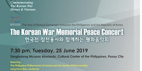 The Korean War Memorial Peace Concert tickets