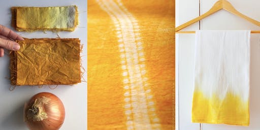 Natural Dyeing with Onion Skins - Muslin & Driftwood Wall Hanging