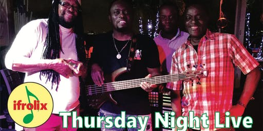 Thursday Night Live, ifrolix reggae, dancehall and pop band performing your favorites, Fort Lauderdale