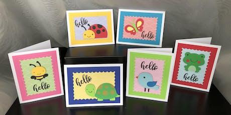 Handmade Cards Make Happy Mail tickets