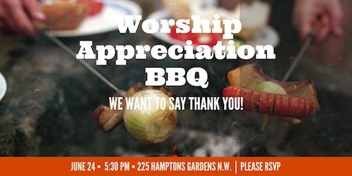 Worship Ministry Appreciation BBQ