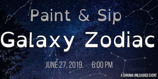 Galaxy Zodiac Paint & Sip