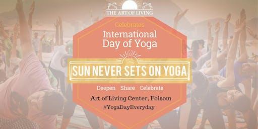 International Day of Yoga 2019 Celebrations - Folsom