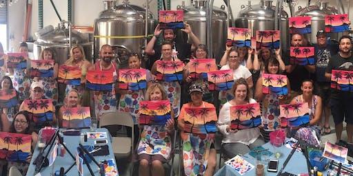 California Sunset Paint Party at Pierpont Racquet Club