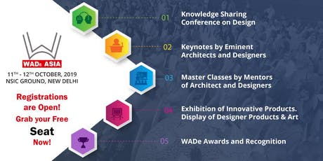 WADe ASIA 2019: One of the Biggest EVENTS in New Delhi for Women in Architecture, Interior Design, Painting and Photography tickets