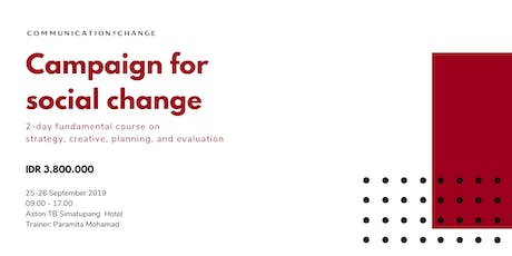 Paid Training/Berbayar: Campaign for Social and Behavior Change tickets