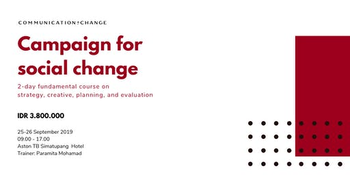Paid Training/Berbayar: Campaign for Social and Behavior Change