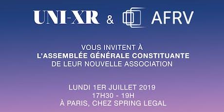 Invitation à l'Assemblée Générale constituante billets