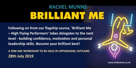 Brilliant Me - confidence -building and motivational workshop tickets