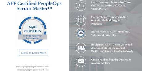 Agile PeopleOps Framework Certified PeopleOps Scrum Master (APF CPSM)™| Wilmington, DE | June 28-29, 2019 tickets