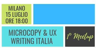 1° MeetUp Microcopy & UX Writing Italia