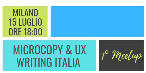 1° MeetUp Microcopy & UX Writing Italia
