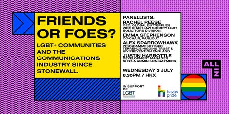Friends or Foes? LGBTQ+ Communities and the Communications Industry tickets