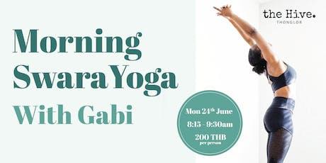 Morning Swara Yoga with Gabi tickets