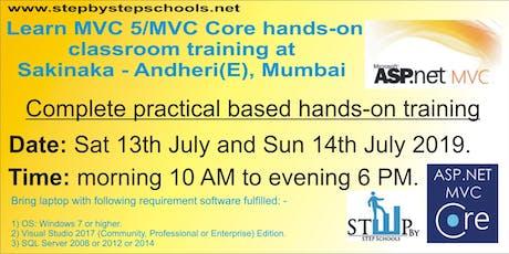 2 days MVC 5 project & MVC core basic training in Mumbai tickets