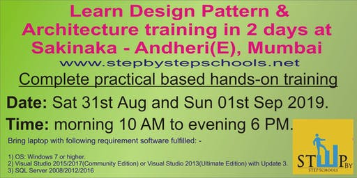 Learn Design Pattern & Architecture in 2 days at Mumbai