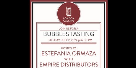July Monthly Tasting - Bubbly Wine tickets