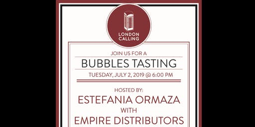 July Monthly Tasting - Bubbly Wine
