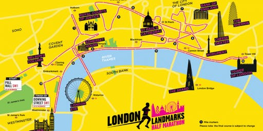 London Landmarks Half Marathon 2020- King's College Hospital Charity Entry