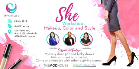 Personal Makeup, Color and Styling at SHEworkshop  tickets