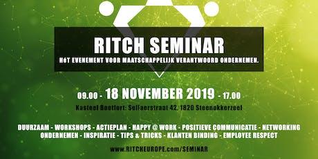 Ritch Seminar (Maatschappelijk Verantwoord / Duurzaam Ondernemen) tickets