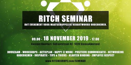 Ritch Seminar (Maatschappelijk Verantwoord / Duurzaam Ondernemen)