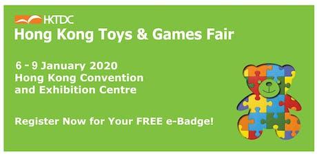 HKTDC Hong Kong Toys & Games Fair 2020 tickets
