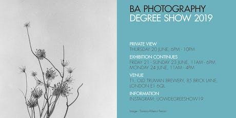 BA Photography Degree Show tickets