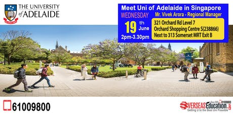 Meet and Greet Session with the University of Adelaide! tickets