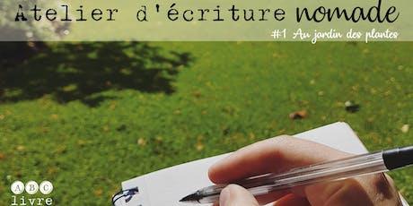 Atelier d'écriture nomade #1 billets