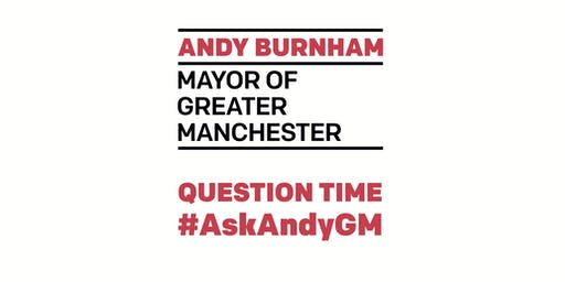 Mayor's Question Time - June 26  @ 7PM - #AskAndyGM