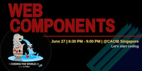 Let's start coding with Web Components! tickets