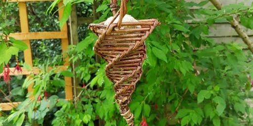 Make a willow bird feeder