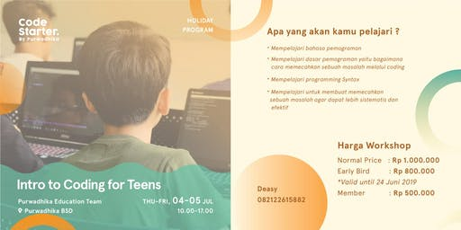 Intro Coding For Teens