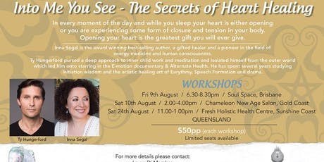 Into Me You See-The Secrets of Healing relationships Inna Segal + Ty Hungerford tickets