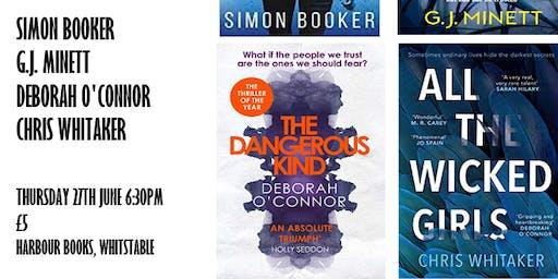 Crime Fiction: Simon Booker, G.J. Minett, Deborah O'Connor & Chris Whitaker