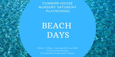 13th June CHS, South Croydon - Saturday Play School - Beach Days