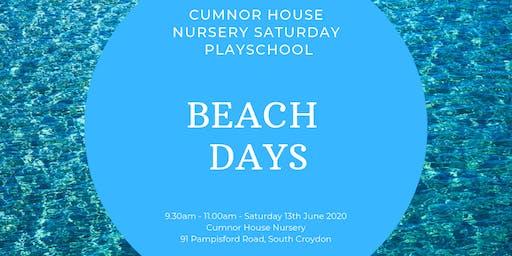 13th June CHS, South Croydon - Saturday Play School - Beach Days