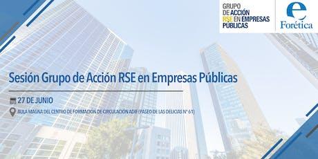 Sesión Grupo de Acción RSE Empresas Públicas entradas